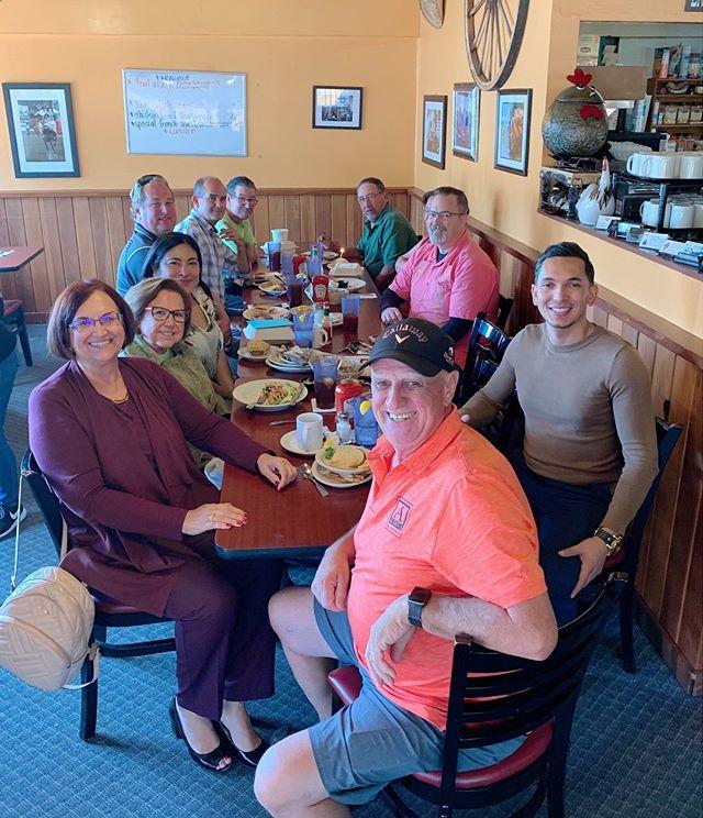 Office birthday lunch!  Happy Birthday to Margarita, Paloma, Jose & Al! 🎂