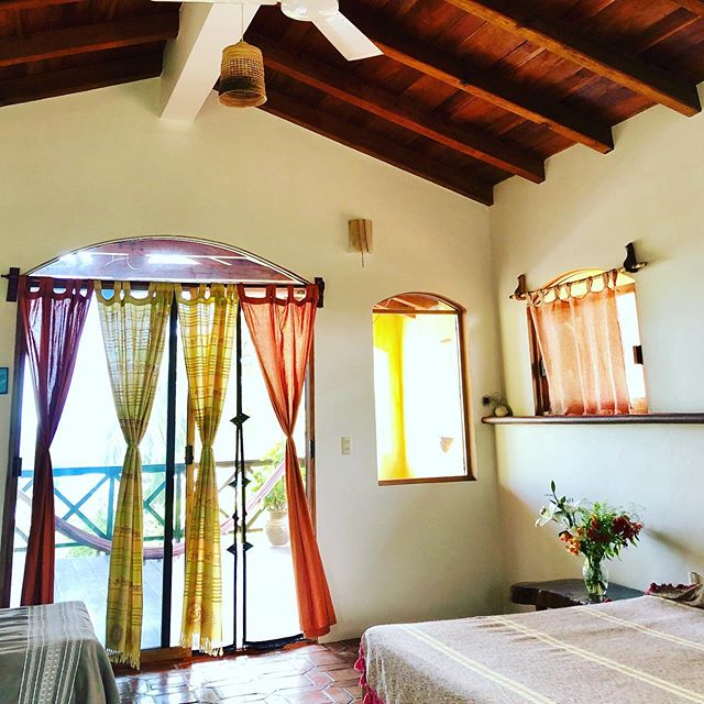 Even our rooms at Casa Naia in Puerto Escondido are celebrating Pride!! How can you not feel the love with these colorful curtains?! And then imagine stepping outside onto the private terrace and feeling the ocean breeze caress your skin as you sway in the hammock?  Or feeling free to strut your stuff in our expansive gardens, alongside the regal resident peacocks!  Have questions about the venue or experience at one of our queer retreats?  Let us know in the comments and we'll answer ASAP!  Don't forget we have special pride pricing!! Link in profile!  #pride #pride🌈 #pridemonth #pride2019 #lovewins #queer #genderqueer #lgtbq #lgtbqi #queertravel #gaytravel #lesbiantravel #nonbinary #trans