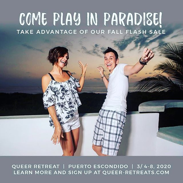 Is it too early to start counting down the days until when we get to laugh, dance, cavort, frolic, prance, sashay and did we mention play... in paradise?? We don't think so. We believe it's the perfect time to start planning your vacation + totally transformative retreat experience and that's why we're offering this incredible sale!! 15% off plus access to our VIP day ($300 value) free for you until the end of the month!! What are you waiting for?  Questions? Let us know ASAP.  We can't wait to welcome you here.