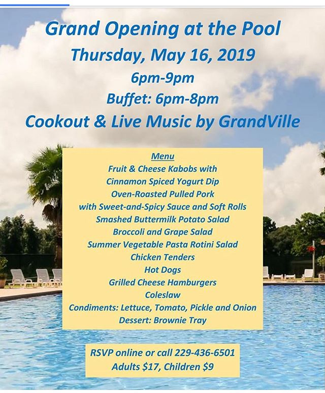 We're playing for the Doublegate Pool opening tomorrow, Thursday May 16th, come out if you can, beautiful weather, great food - should be fun!  Please share this - spread the word!