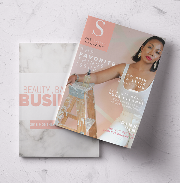 Pure Beauty Skin Bar Magazine Mockup