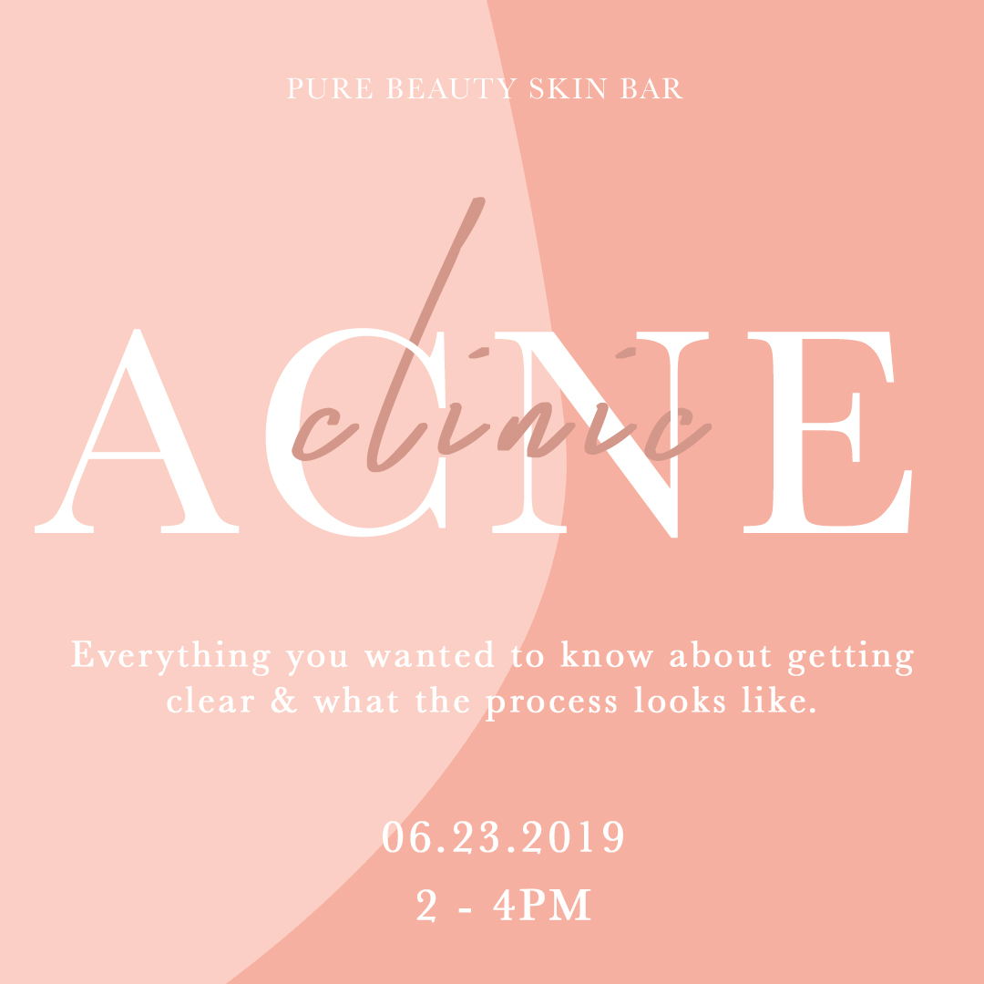 Marketing Event Flyer for Pure Beauty Skin Bar
