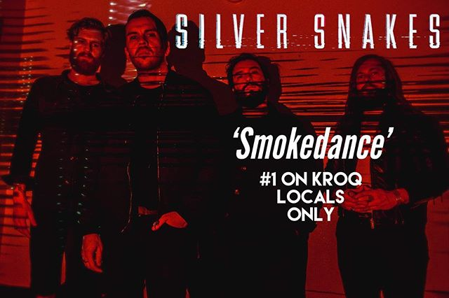 "We are in shock- After making its debut last week, our track ""Smokedance"" shot straight to number 1 thanks to your votes. Thank you all so much! @kat_corbett @popantipop @kroq. Make sure to check out the whole record, DEATH AND THE MOON. Link in bio. ••• #silversnakes #silversnakesband #deathandthemoon"