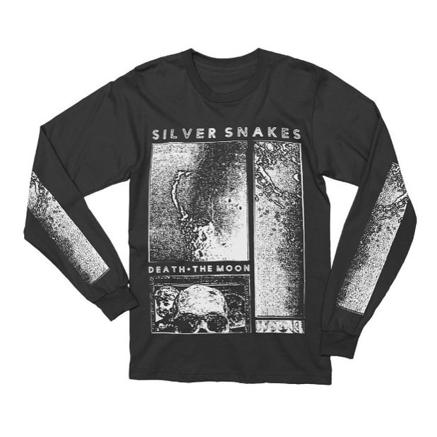 Tour leftovers are up in the merch store. Limited quantities in all designs! Follow the link in our bio to the Merch store to purchase. #silversnakes #silversnakesband #deathandthemoon