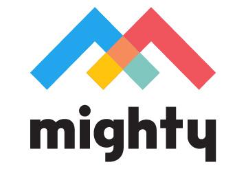 Logo with large icon