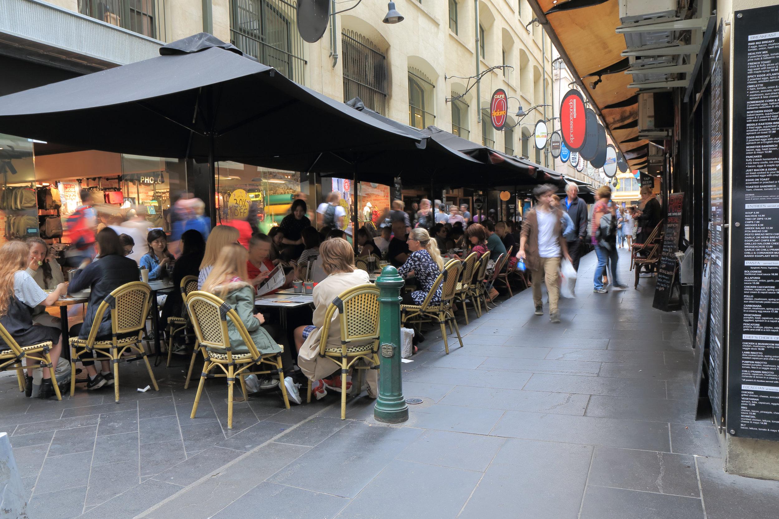 Melbourne Walking Tour-Lanes and Arcades-Melbourne Shopping Experiences-Degraves Street-Marvellous Melbourne