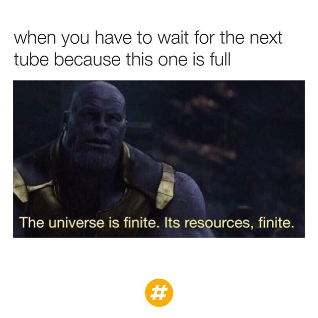 How I stay calm during the Friday morning rush hour 😑🤣 #NewWayToStay #Thanos
