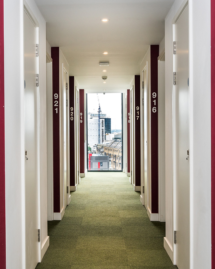 - Hashtag Aldgate Campus offers clean and comfortable accommodation in London. The property has Wi-Fi access, laundry facilities and a variety of communal areas. Please be kindly advised that we do not permit anyone under 18 years old to stay at our properties.