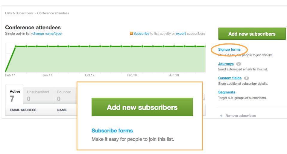 "Example of a one-word UI copy change; ""subscribe"" to ""signup"""