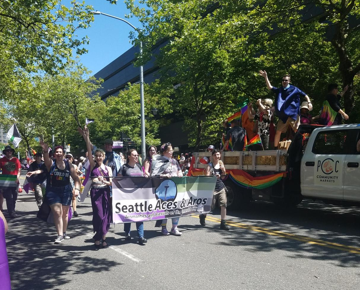 Seattle Aces & Aros march in Seattle, USA