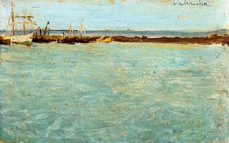 «Вид на порт Валенсії», 1895