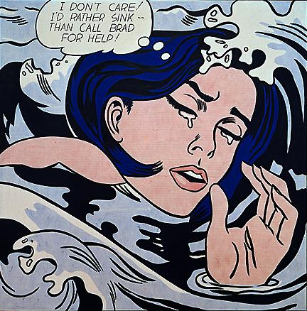 Потопаюча дівчина, 1963   (Переклад: Я швидше потону, ніж попрошу Бреда про допомогу)