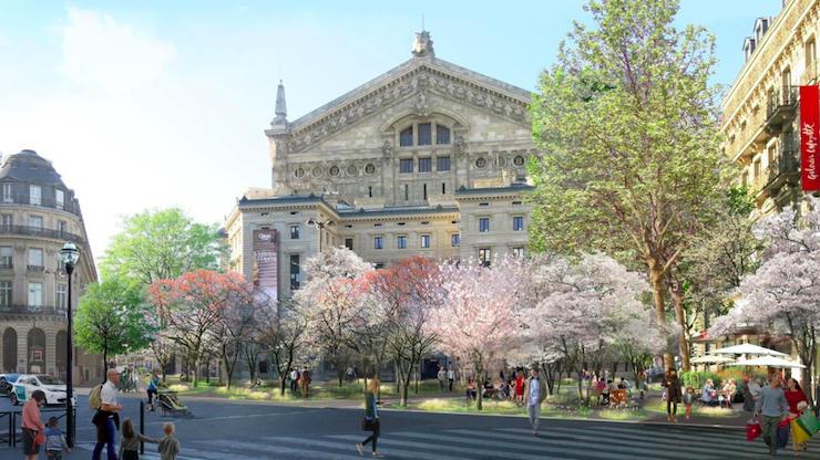 Вишневий сад замість площі перед Паризькою оперою