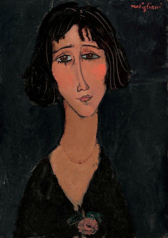 Амедео Модільяні,  « Молода жінка з трояндою » . Світлина: Arts.Dot.com