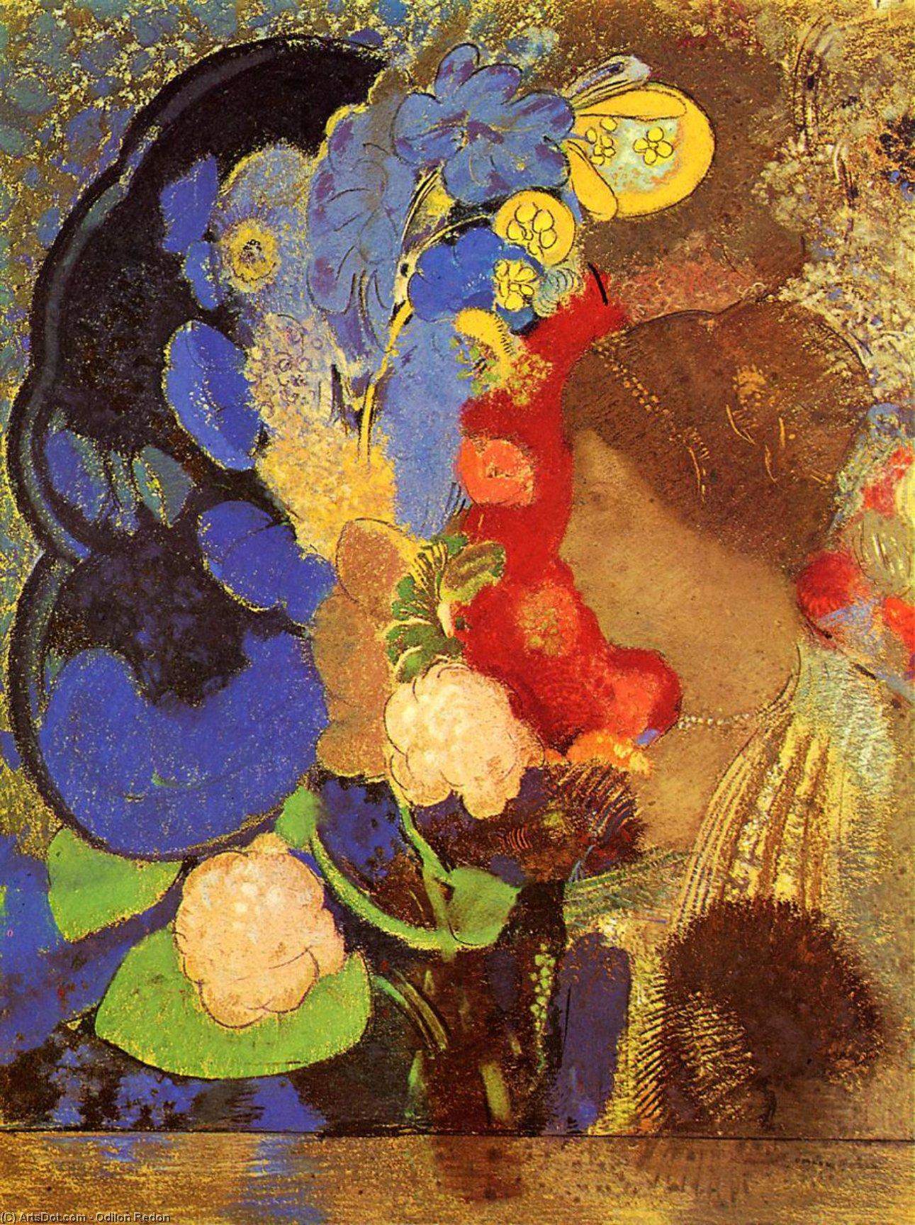 Оділона Редона «Жінка в квітах».   Світлина: Arts.Dot.com