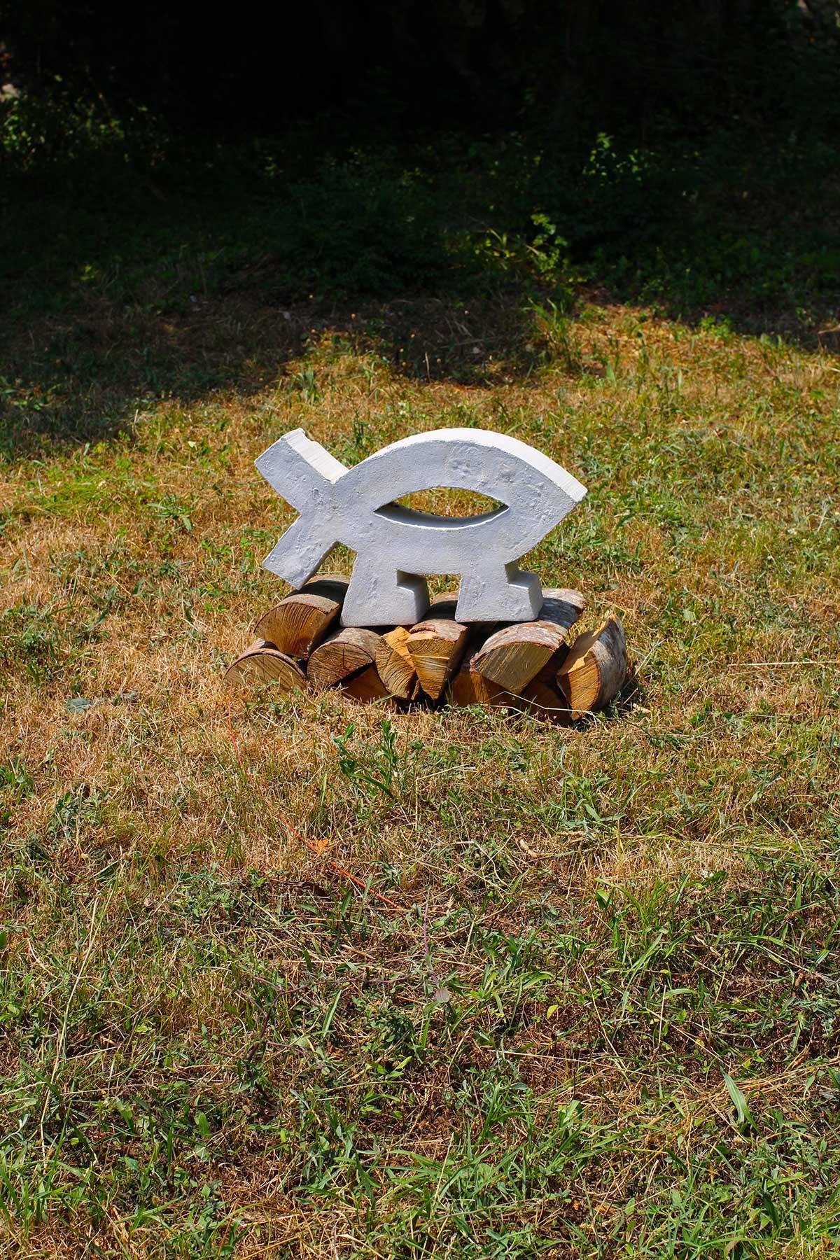 Матвій Крилов (Херцег Нові, Чорногорія), «Ісход», скульптура, бетон, 100 х 150 см., 2019