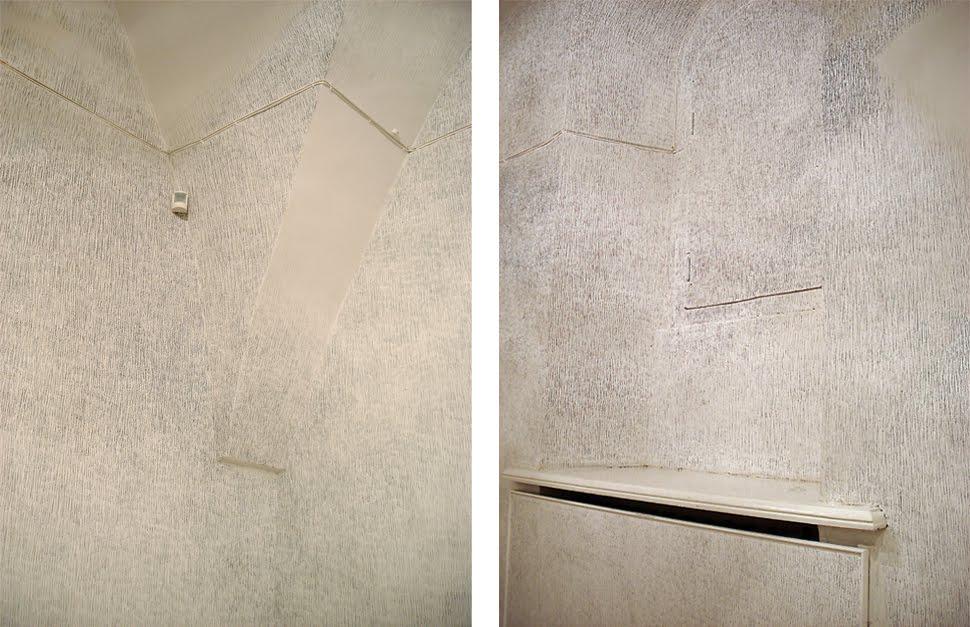 « Місце » . Штрихи графітним олівцем по стінах, Фундація Центр сучасного мистецтва, Київ, 2009. Світлина: сайт художниці
