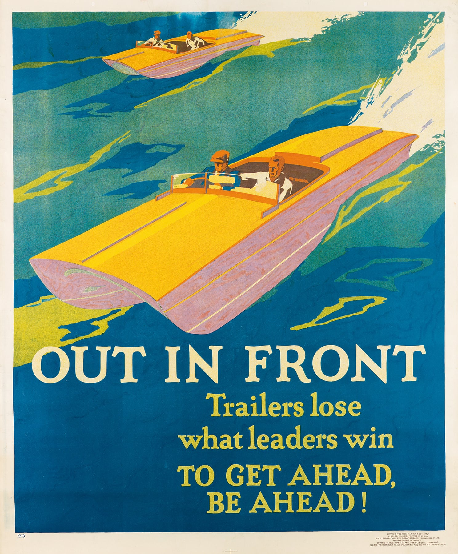 Out in Front/To Get Ahead, Be Ahead!, 1929