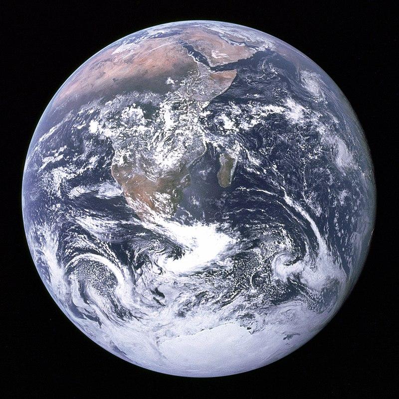Вигляд Землі з космічного кораблю Аполлон-17. 7 грудня 1972 року