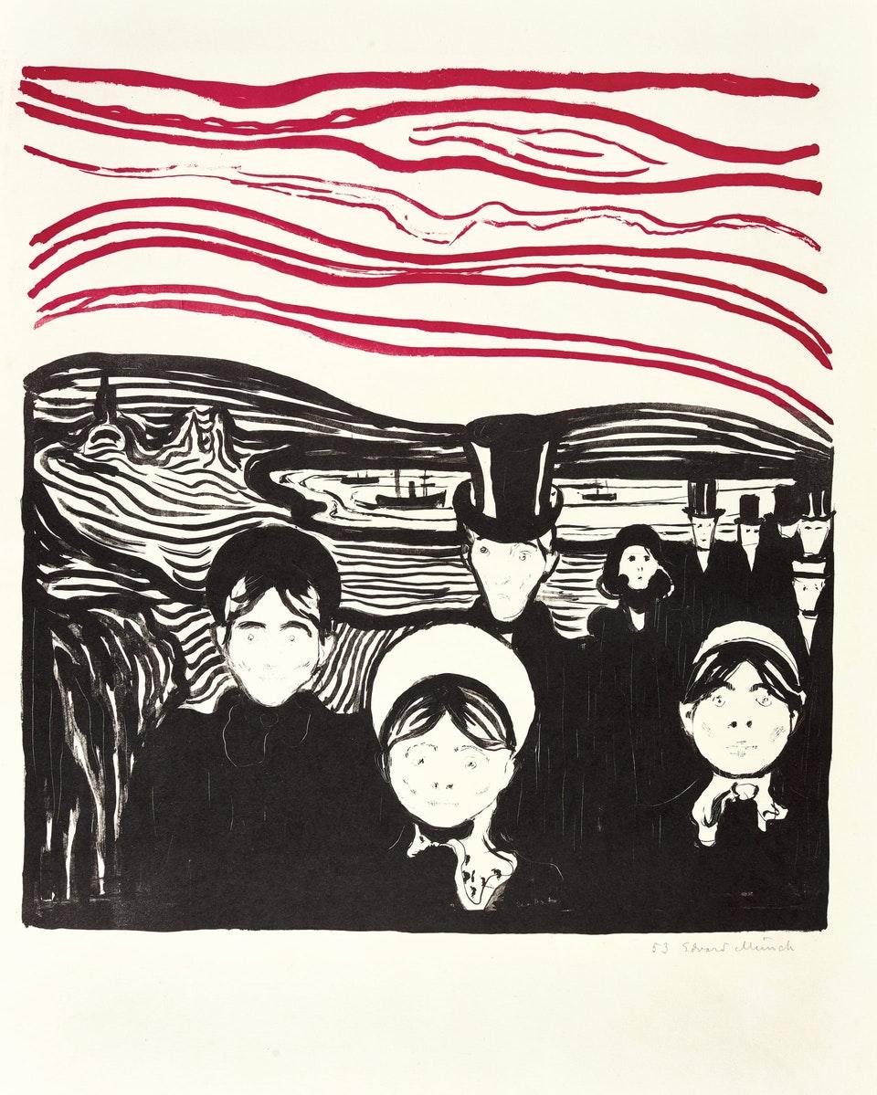 Едвард Мунк, «Тривога». Світлина: 2019 The Munch Museum / The Munch-Ellingsen Group / Artists Rights Society (ARS), New York