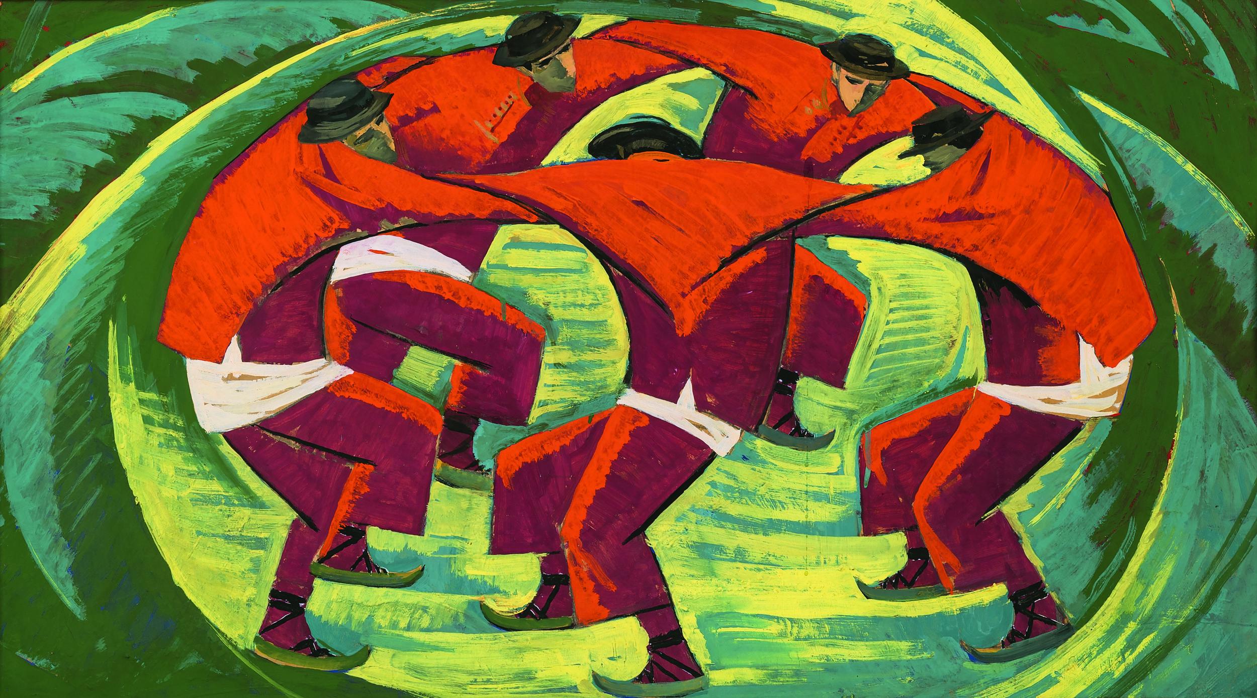 Веніамін Кушнір. Ескіз до картини «Аркан». 1960-ті рр. Приватне зібрання, Київ