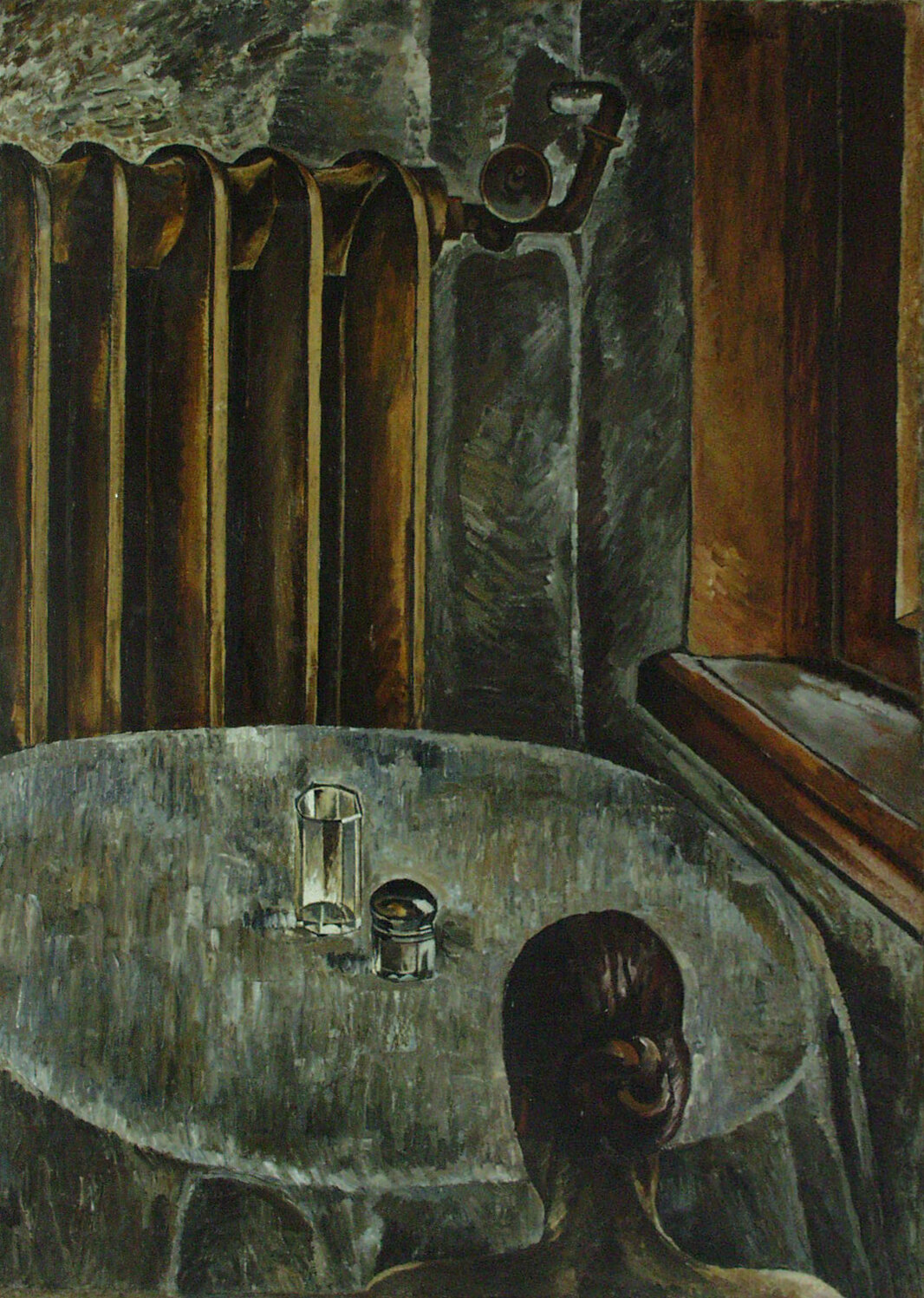 За столом. 1926. Колекція NAMU