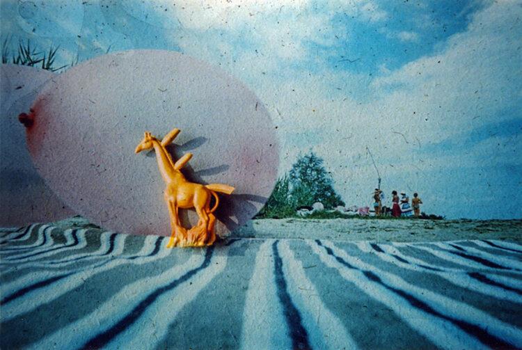 «Пейзаж с жирафом», 1989