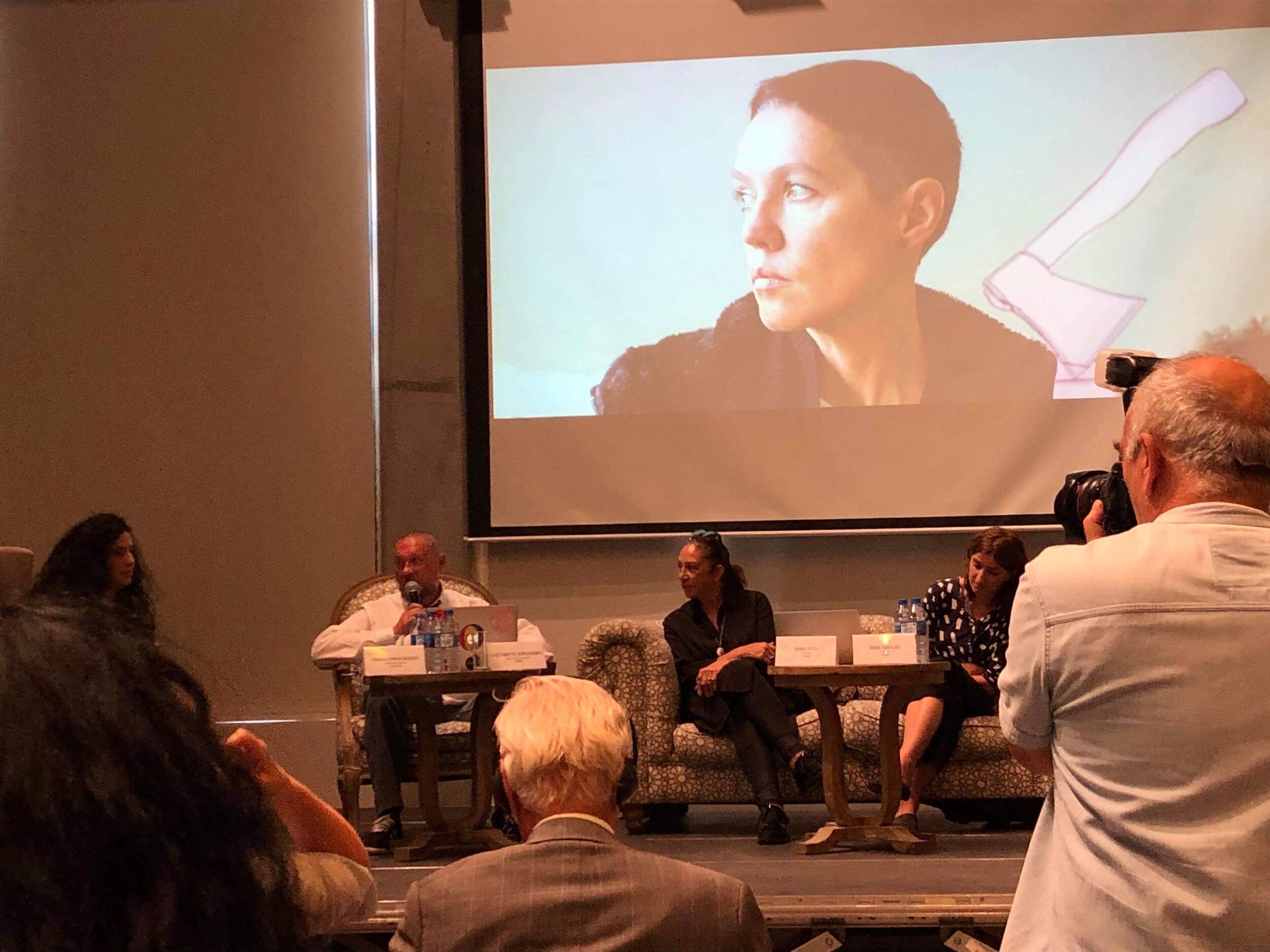 Конференции в центре современного искусства YARAT. Фото предоставлено пресс-службой фестиваля «Maiden Tower. To be a woman»