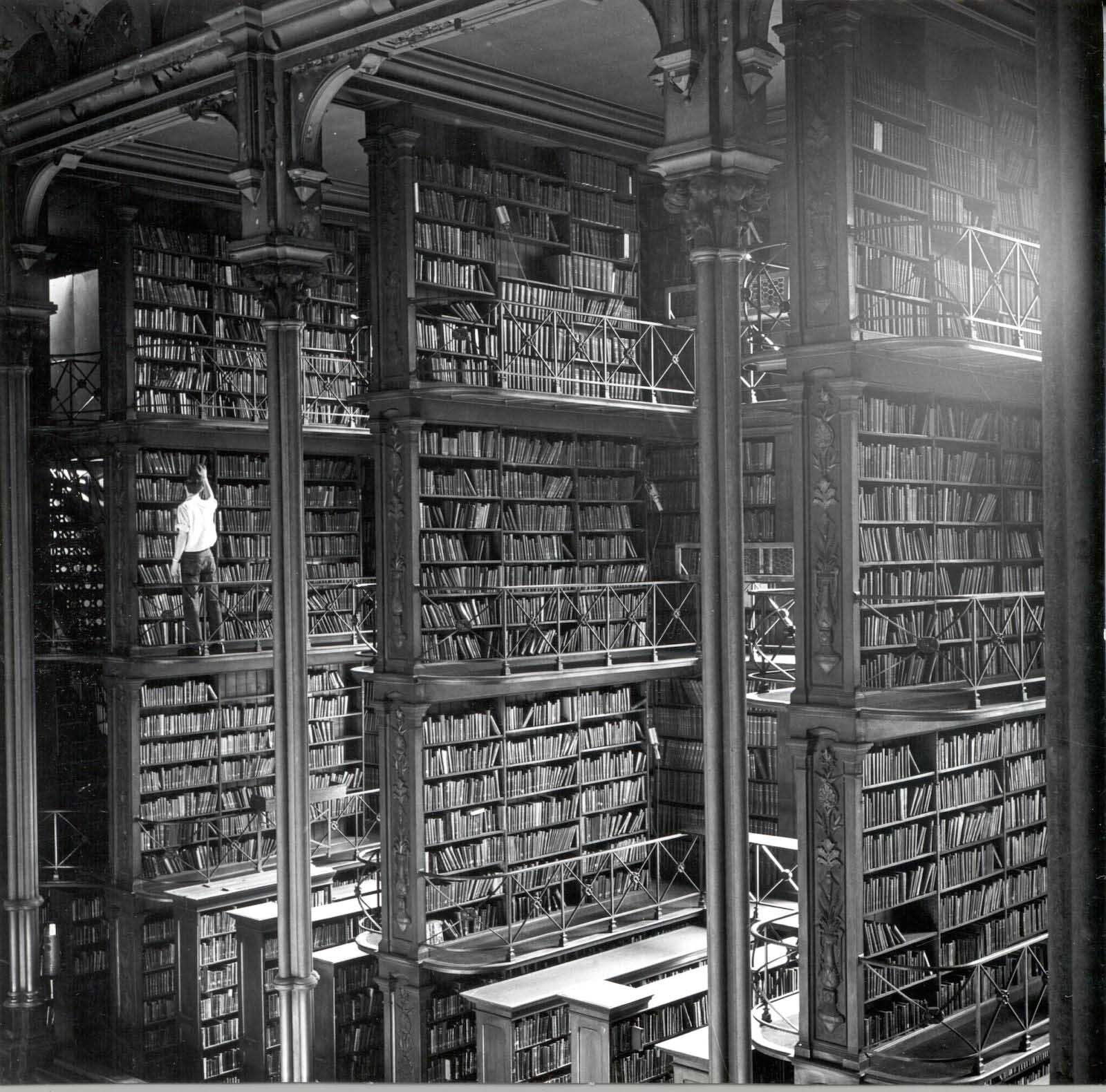 The Old Cincinnati Library before being demolished, 1874-1955.  Image