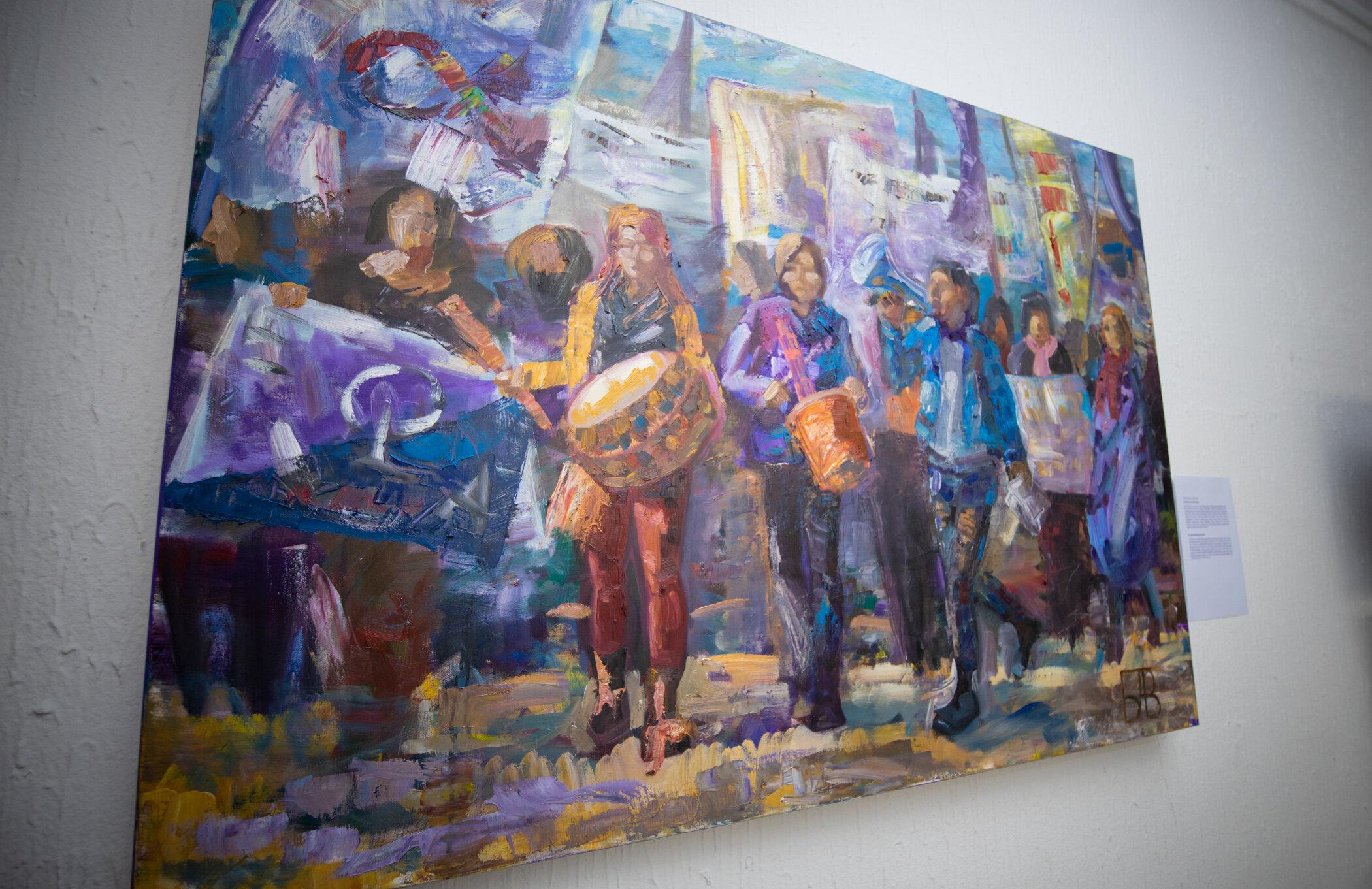 «Березневий мирний марш», Альбіна Блінова