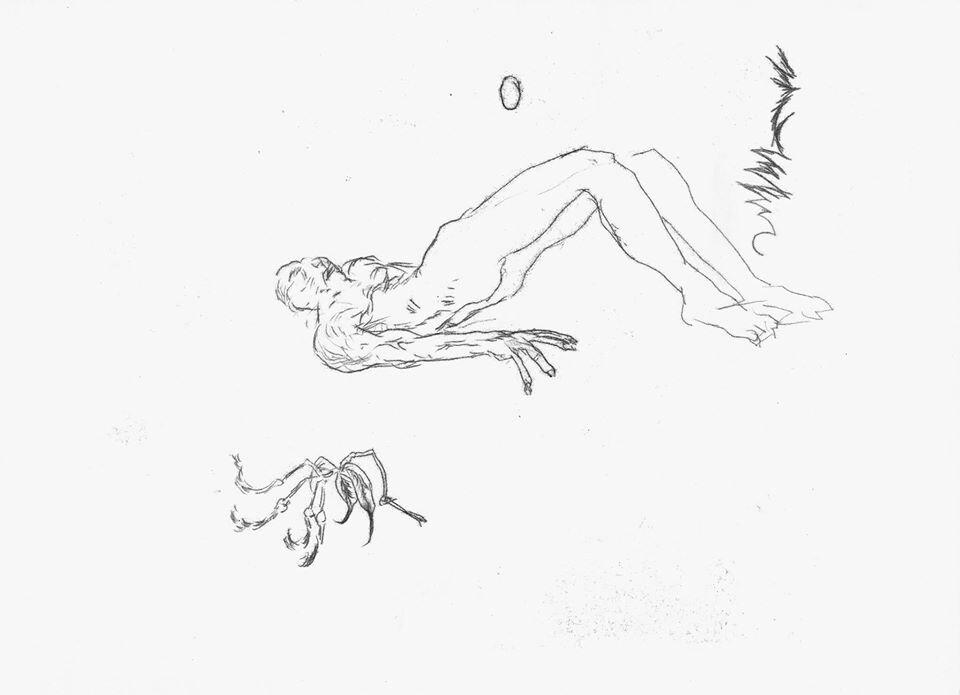 Міша Букша. Зламаний, із проєкту «Primitive People». 2018. Папір, монотипія. Фотографія надана автором