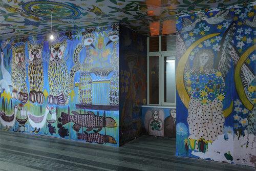 Відтворення розписів будинку Поліни Райко (1928–2004) Фото: Семен Храмцов. Цифровий друк: надано Благодійним фондом ім. Поліни Райко