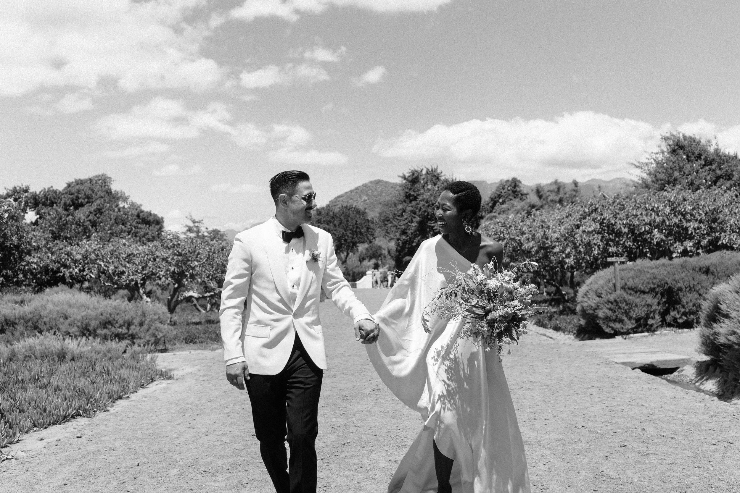 Marcus & Thando - An intimate wedding at Babylonstoren Farm