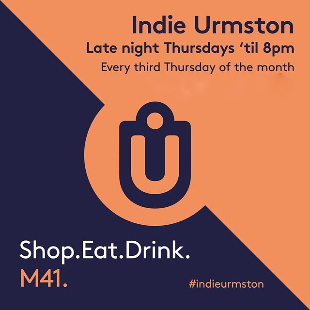 IT'S INDIE URMSTON LATE NIGHT THURSDAY DAY TODAY! Come and have a wander around your local independent businesses, buy a thing or 2, have a drink or 2, maybe grab a bite to eat. Would be lovely to see you all! #indieurmston