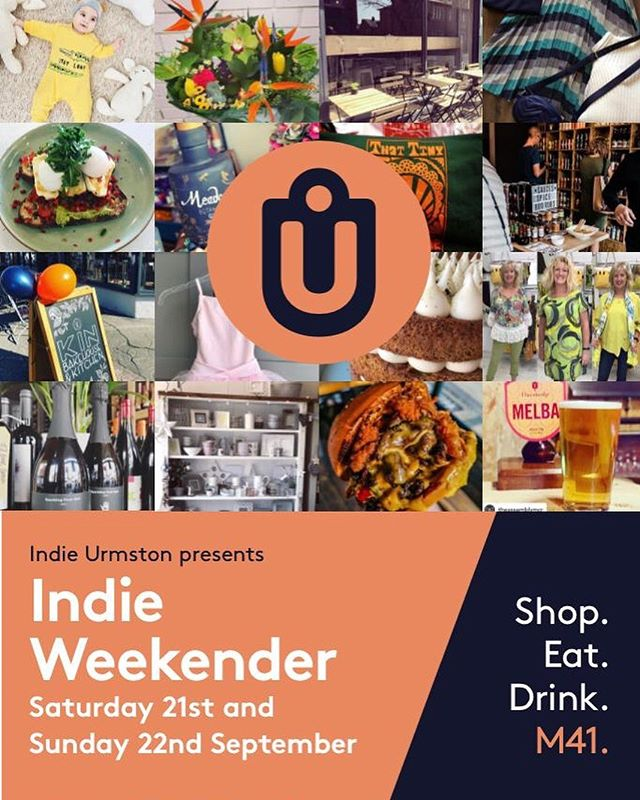 indie urmston presents... INDIE WEEKENDER Two days of events celebrating the independent businesses of urmston. Saturday 21st & Sunday 22nd September!  #indieurmston #shoplocal #eatlocal #drinklocal #smallbusiness #m41 #urmston #manchester