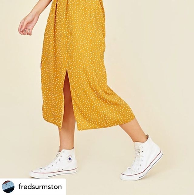 Posted @withrepost • @fredsurmston Well we're blowing hot and cold this week in Fred's and it's about to get warm again . This lovely mustard yellow dress is £25 and available in 8-14s #fredsurmston #indiansummer #indieurmston #ootd #manchesterboutiques #sale #urmston #stretford