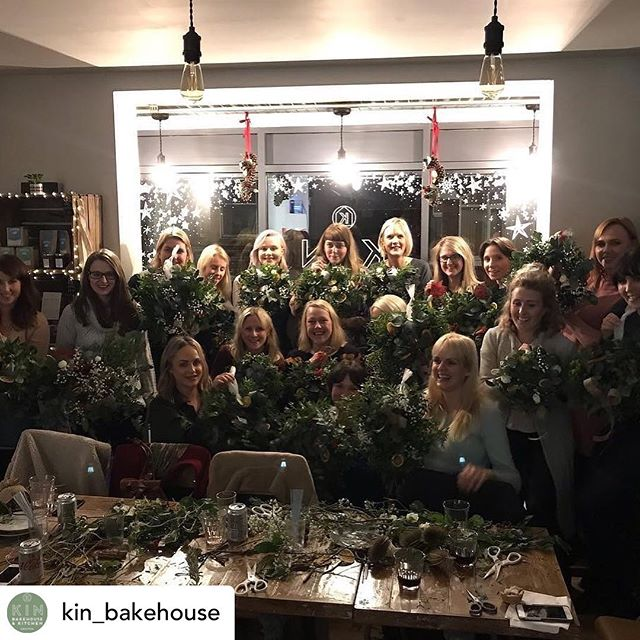 Posted @withrepost • @kin_bakehouse On your marks, get set, go get your tickets! . . We're teaming up with @katesshed once again to hold our Christmas wreath making workshop on 5th December at 7pm here at Kin. Tickets are £40 and are on sale now! . . Price includes all materials to make a gorgeous wreath (as pictured), mulled wine, mince pies, a selection of other sweet treats and tons of festive cheer! Last year's workshops were incredibly popular and all the attendees (including us!) had a fab time - we're so excited to do it all again this year! . . Tickets are available from Kin now... and as we're quite small, space will be limited so get your place booked ASAP! . . #christmas #christmaswreath #christmaswreathworkshop #festive #fun #mulledwine #mincepies #cake #hohoho #christmasiscoming #urmston #m41 #indieurmston #manchester #manchesterevents #kinbakehouse #katesshed #dreamteam