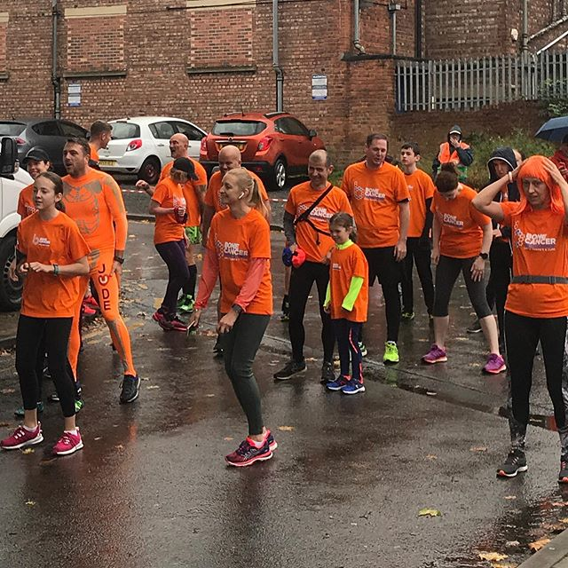 Great turnout for the first annual Urmston 5k Fun Run & Walk in aid of the Bone Cancer Research Trust - especially so with this weather!
