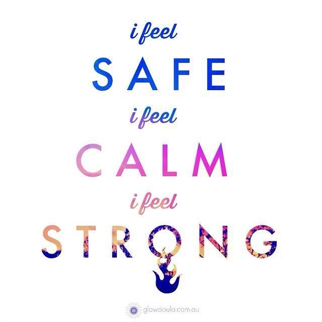 "Birth Affirmation Thursday ""I feel safe. I feel calm. I feel strong."" pc📸: @glowdoula . . . What makes you feel safe? Is it birth location? Is it the support people? Is it the provider? Is it all of these? - What makes you feel calm? Is it dim lighting? Is it your own clothing? Is it music? Is it the presence of a loved one? Is it meditation, prayer and/or affirmations? - What makes you feel strong? Is it knowing that your body is made to birth? Is it the choices you made to feel empowered? Is it the preparation you put into this moment?  Tell us!! #sevencitiesmidwiferycare #sevencitiesmidwifery #homebirth #midwives #CPMs #certifiedprofessionalmidwife #naturalbirth #birth #makingafamily #sacredspace #homebirthinVA #midwiferymodelofcare #birthaffirmations #mindovermatter #positivemind #birthworks #ifeelsafe #ifeelcalm #ifeelstrong #glowdoula"