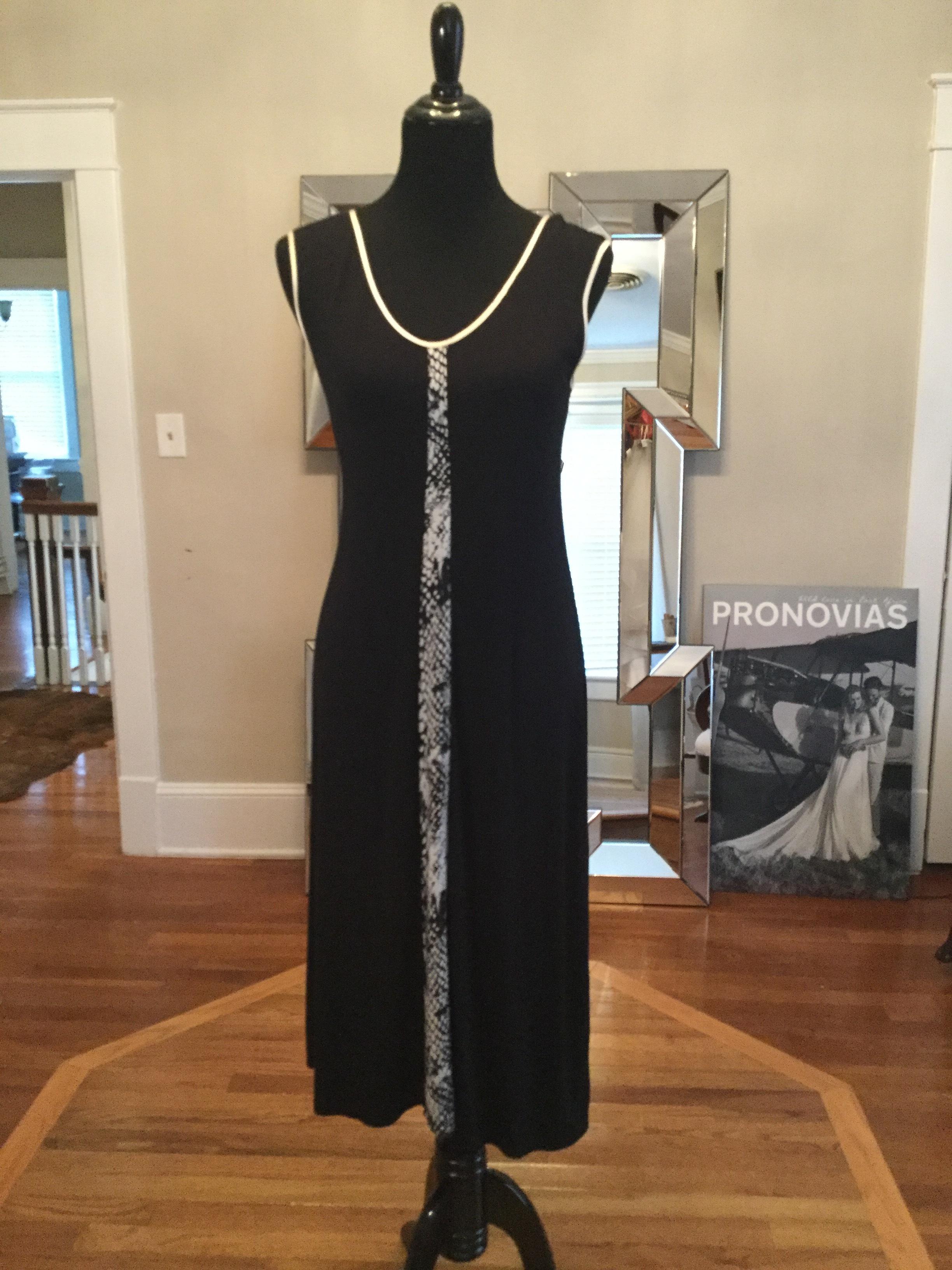 Black tanktop dress, snakeskin stripe_$94.JPG