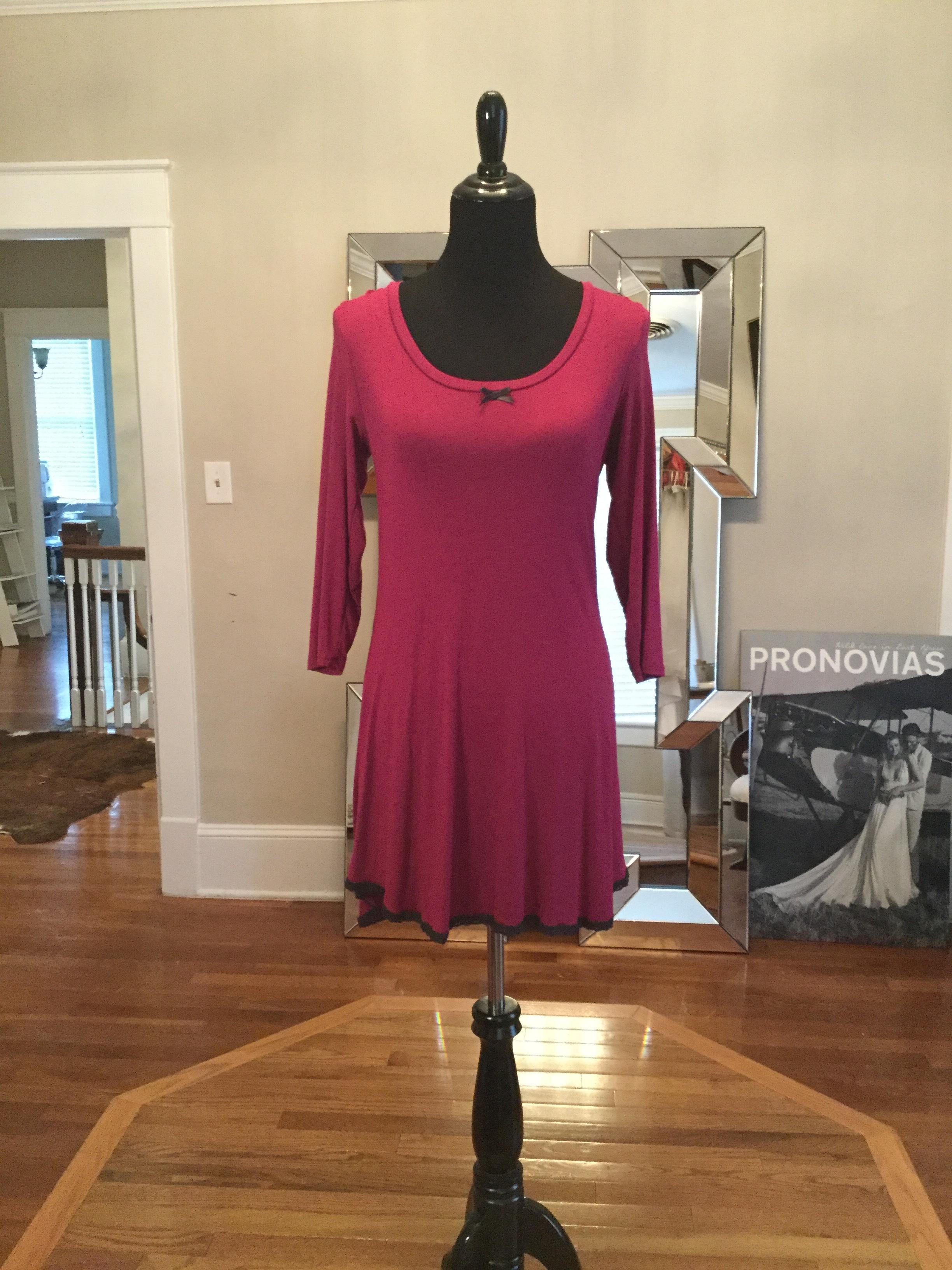 Pink and black long sleeve dress_$60.JPG