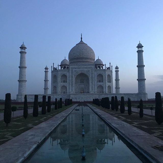 Taj Mahal at #sunrise! #nofilter need to enhance the profound #beauty of this place.. We were able to showcase this #Indian icon to our clients exclusively for at least 15 minutes! #travelwithtikka #tikkatours #meaningfultravel