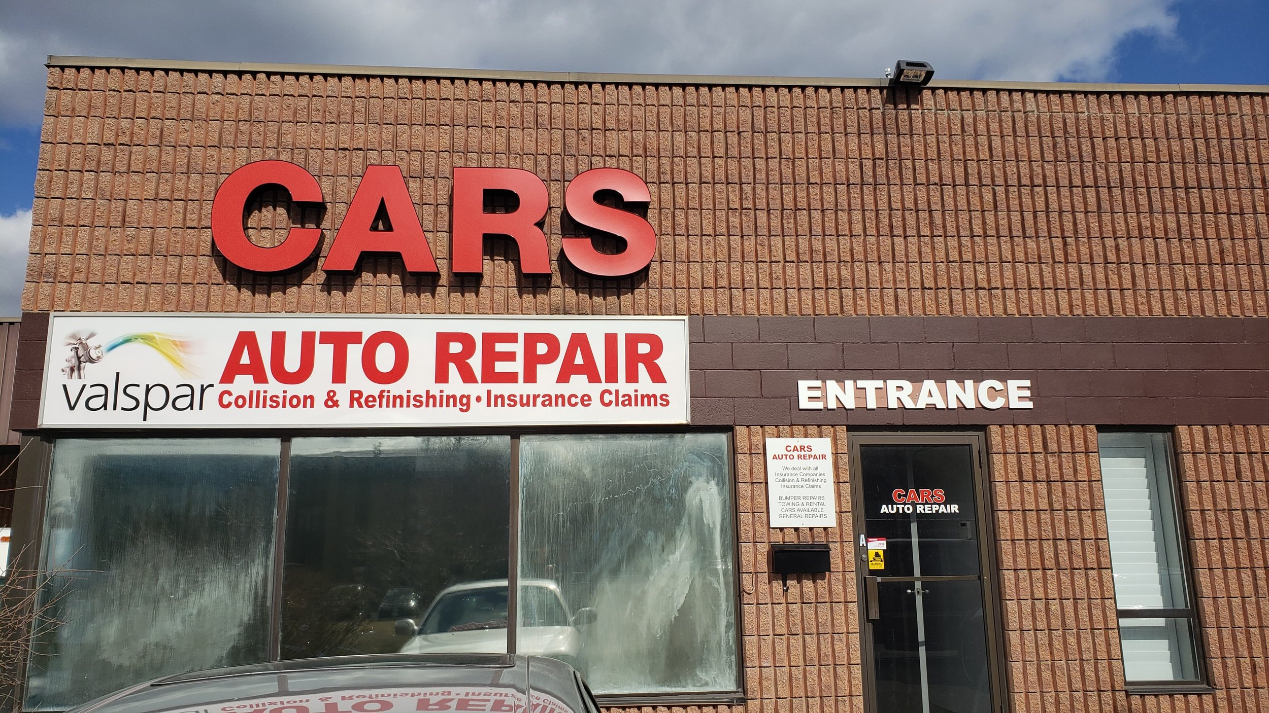 Cars Auto Repair Outside