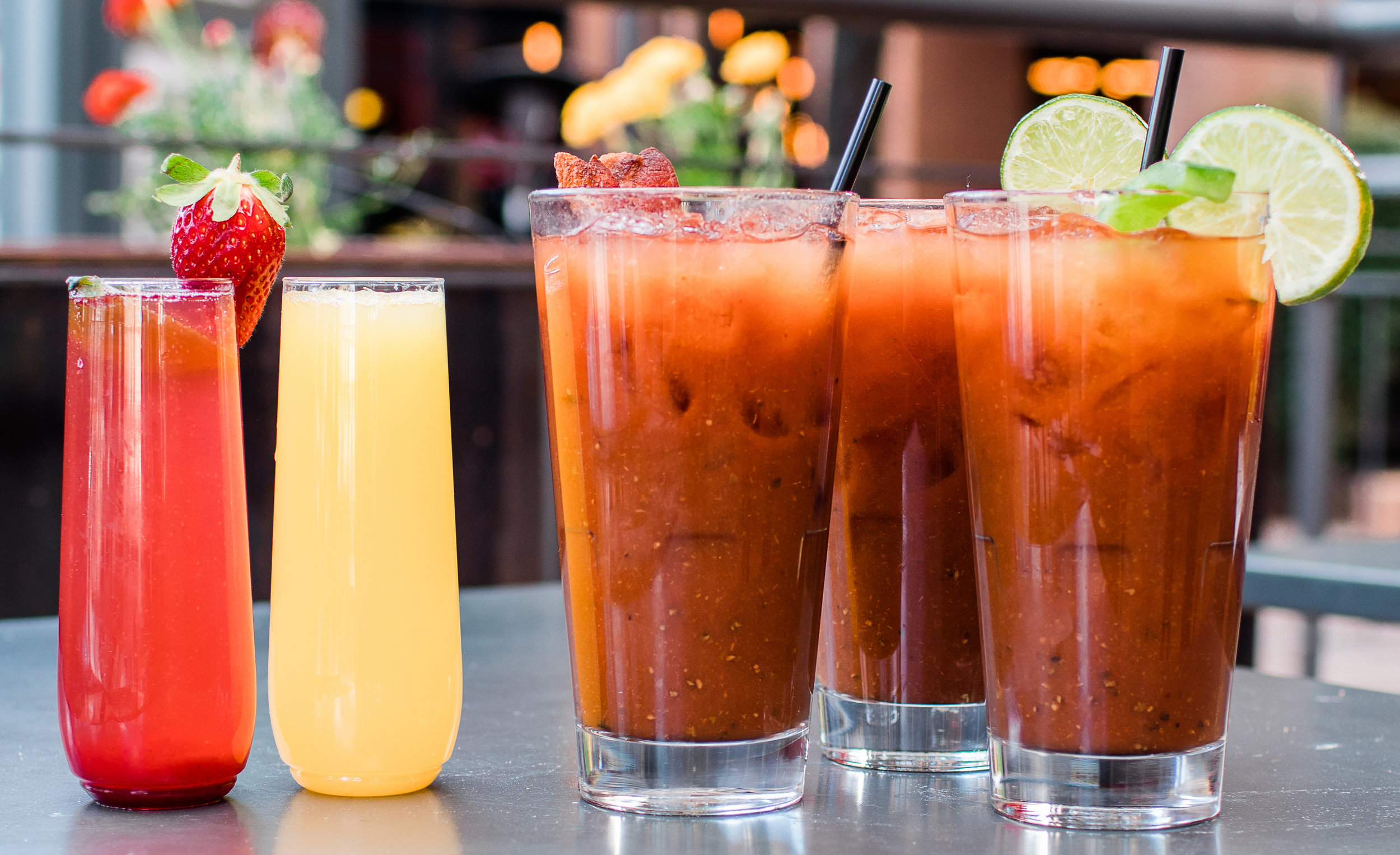 Signature craft bloody mary and mimosas.