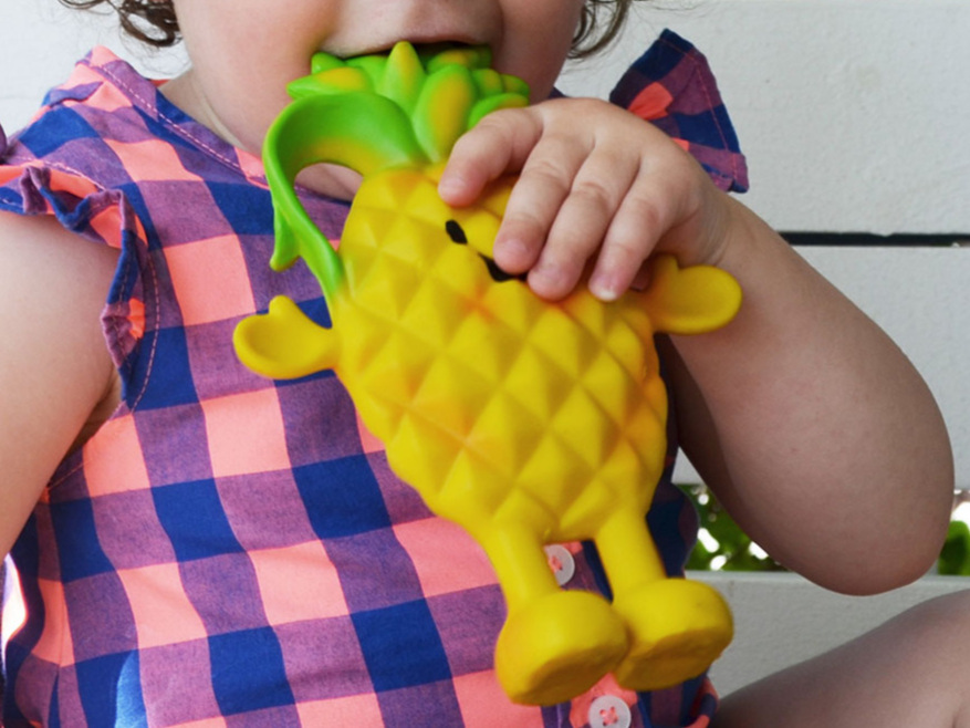 gnomgnoms  Polly Pineapple Teether