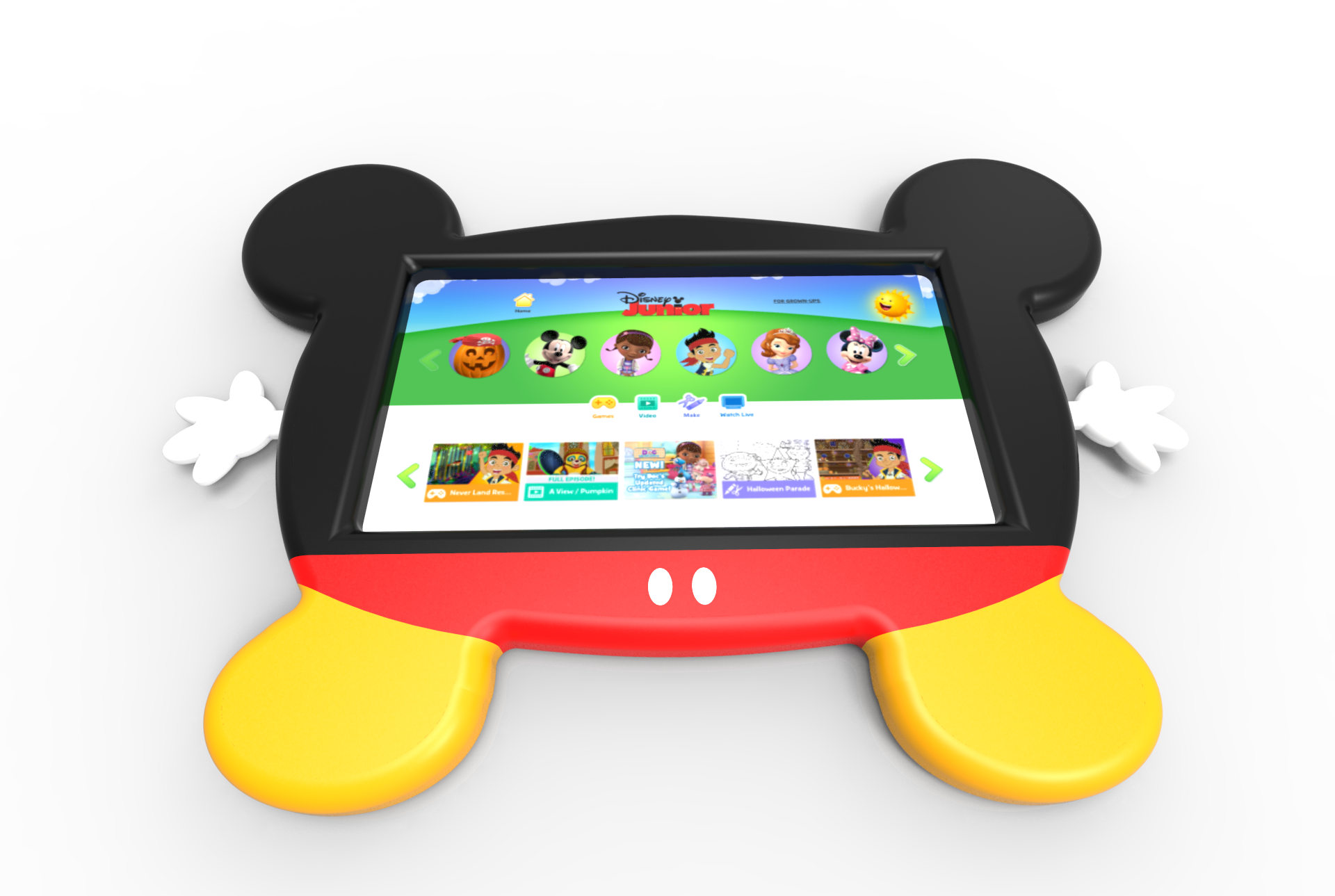 Cardboard Helicopter Product Design Cleveland Ohio Product Development Industrial Design - Disney Mickey Mouse Clubhouse Digital Smart iPad Tablet Electronics Case3.png