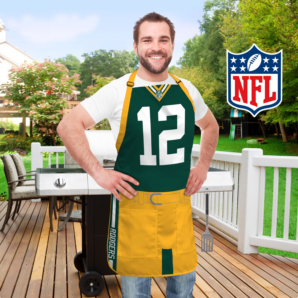 NFL Jersey Aprons - Grill Like a Pro