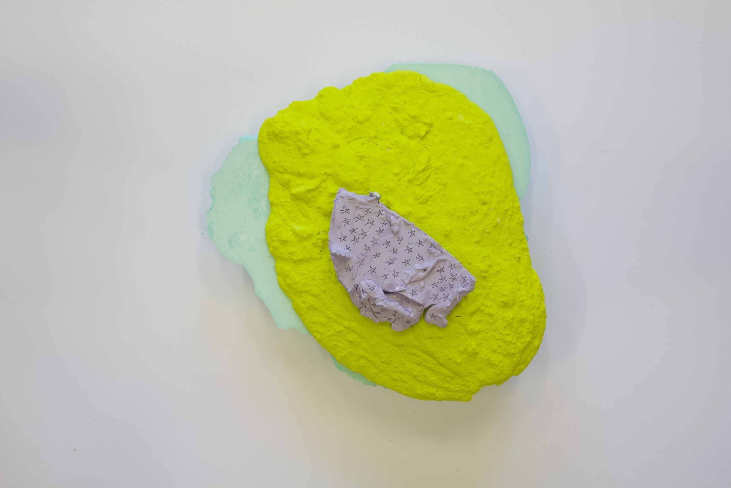 Sculptural Blobs, 2019  Plaster, Dispersion K498, emulsion  7.5cm x 23cm x 24cm