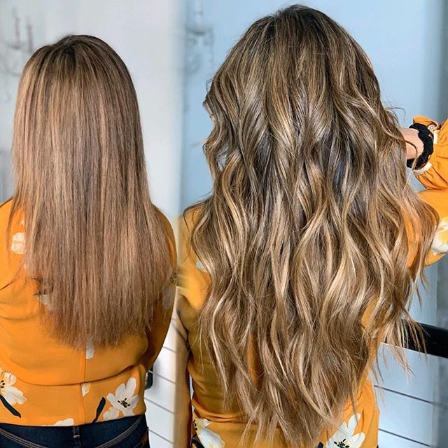 Ever wonder what your hair would look like if you wore extensions three years straight?! Swipe to see how far her hair has come in health! Color by @hairbylisamedley & @greatlengthsusa by @lyndsaymaderis  BEAUTY IS YOUR ULTIMATE ACCESSORY  @thairapypdx @behindthechair #thairapypdx #howiwearmygl #lyndsaymaderishair #hairbylisamedley