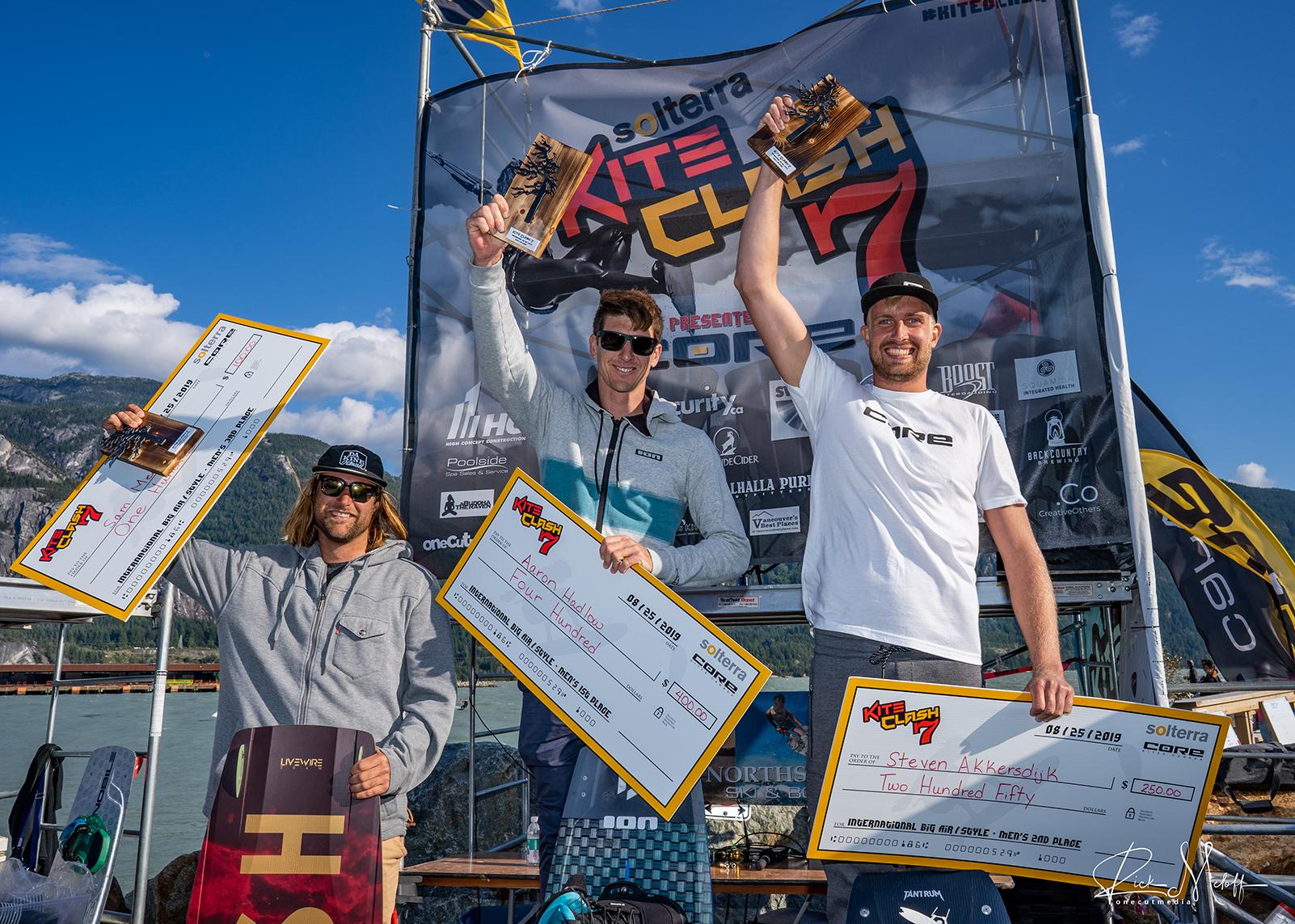 Men's Big Air-Style Podium - Kite Clash 7 (2019) - Photo by Rick Meloff
